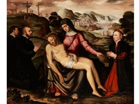 pieta mit assistenzfiguren by jacob de backer