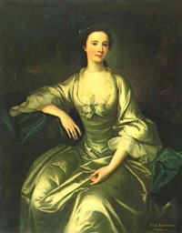 three quarters length seated portrait of miss newnham, sister of lady ryder by james cranke