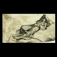 reclining figure by sigmund m. abeles