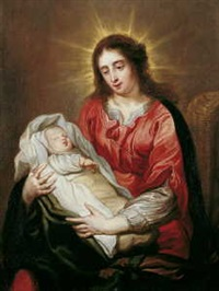 maria mit kind by jan van den hoecke