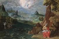 der evangelist johannes auf patmos by tobias verhaecht