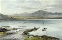 lowlandman's bay, jura, argyllshire by c(harles) w(illiam) adderton