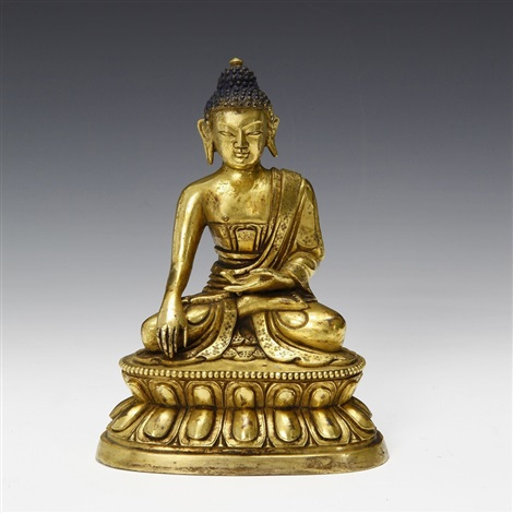 unknownbrgilt bronze figure of sakyamuni