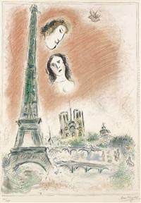 le rêve de paris by marc chagall