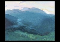 hakone road and mountain landscape by hitoshi yamaba