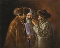 incontro di rabbini by lazar krestin