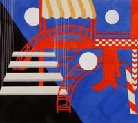 décor for pantomim espagnol by alexandra exter