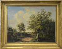 paysage romantique by adrianus van everdingen