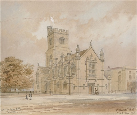 a preliminary sketch for st barnabas church homerton hackney by arthur ashpitel