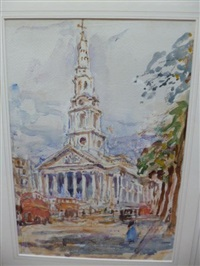 view of st martin in the fields, london by rowland henry hill