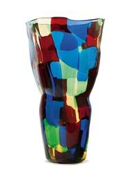 pezzato vaso a mosaico policromo by fulvio bianconi