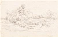 baumstudie by ludwig heinrich theodor (louis) gurlitt