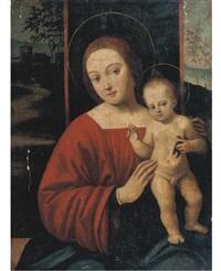 madonna con bambino e cardellino by antonio aleotti