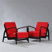 armchairs (pair) by jindrich halabala