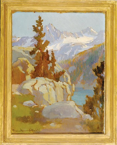 pine tree in a sierra landscape by marion kavanaugh wachtel