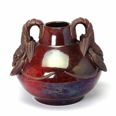 lobster vase by karl frederik christian hansen reistrup