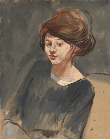 portrait of a woman by jean louis forain