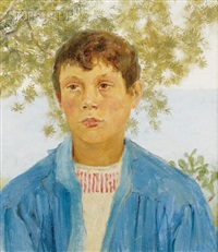 breton boy (2 works) by joseph lindon smith