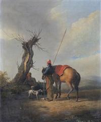 soldaten und ihre pferde bei der rast by anonymous-european (19)
