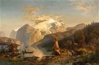norwegischer fjord by hermann herzog
