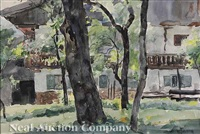 bavarian houses (+ mountain scene, verso) by william forsyth