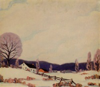 snowy brown county landscape by clifton a. wheeler