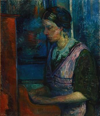 pige ved klaver by sigurd swane
