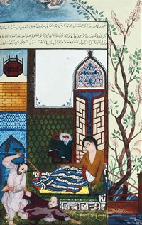 the thief is beaten in the bedroom (after jalayrid) by limoges