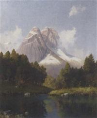 an idyllic apline view by hans sengthaler