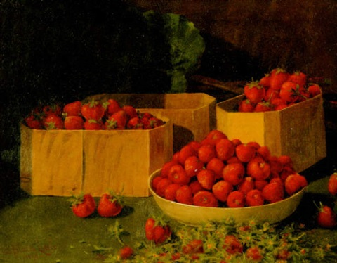 preparing strawberries by a platte little