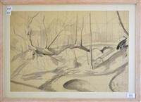 winter trees, suffolk by john northcote nash