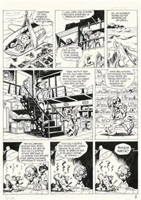 une aventure de spirou et fantasio; pl. 2 (from les géants pétrifiés) by yoann chivard