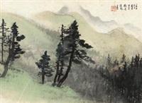 林屋图 by li xiongcai