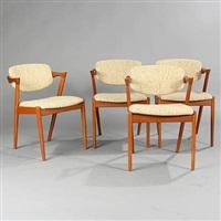 kai kristiansen: a set of four chairs (model 42) by kai kristiansen