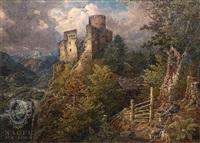 burgruine in tyrol by johann baptiste heinefetter