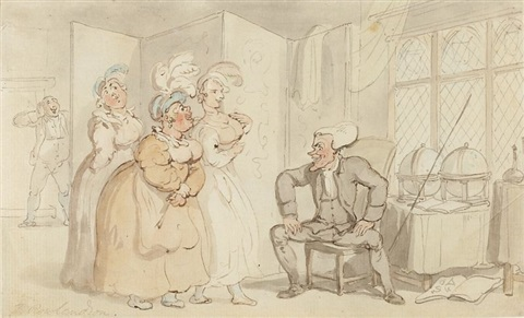 three graces by thomas rowlandson