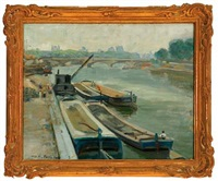overlooking the seine in paris by max nathan