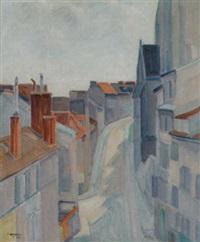 franskt stadsmotiv by victor axelson
