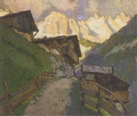 grodner-tal, with the alps beyond by julius von kaan-albest