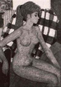 sitzender weiblicher akt by bela czene