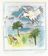 la grande corniche by marc chagall