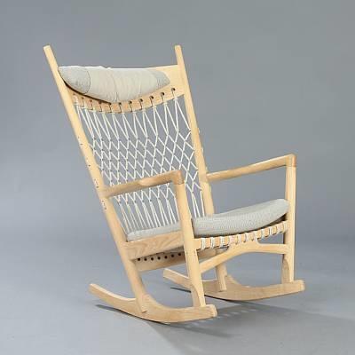 Rocking Chair (model Pp 124) By Hans J. Wegner