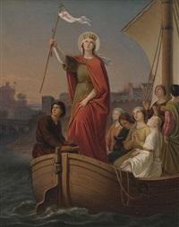 hl. ursula mit den jungfrauen auf dem rhein by johann baptist müller