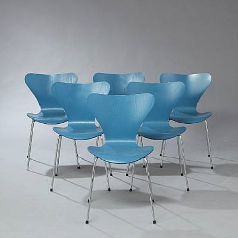 seven chair model 3107 set of 7 by arne jacobsen
