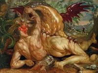 der drache tötet die gefährten des kadmos by cornelis cornelisz van haarlem