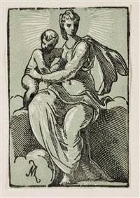 die jungfrau mit dem kinde auf einer wolke by antonio maria zanetti