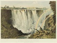 the victoria falls, zambesi river, sketched on the spot (10 works) by john thomas baines
