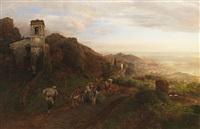 süditalienische küstenlandschaft bei capri by oswald achenbach