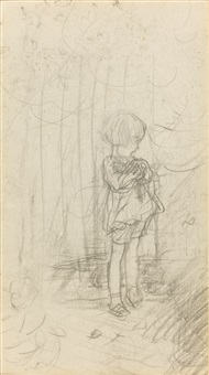 three preliminary pencil drawings (3 works) by ernest h. shepard
