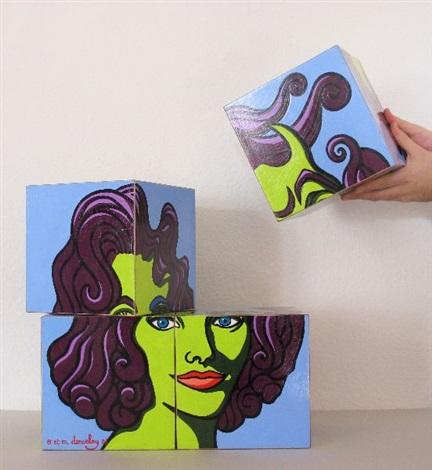 elizabeth taylor cubes 8 by oliviermyriam